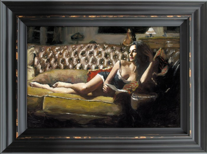 Image: Study for Saba with Letter V by Fabian Perez | Limited Edition on Canvas